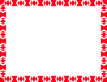 Free Stock Photo: Illustration of a blank frame border of red shapes