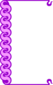 Free Stock Photo: Illustration of a blank frame border with purple swirls