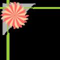Free Stock Photo: Illustration of an upper left frame corner with a pinwheel shape