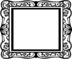 Free Stock Photo: Illustration of a blank picture frame