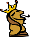Free Stock Photo: Illustration of a crowned lion chess piece