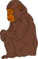 Free Stock Photo: Illustration of a chimpanzee