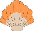 Free Stock Photo: Illustration of a clam shell