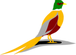 Free Stock Photo: Illustration of a yellow, red and green colored bird