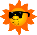 Free Stock Photo: Illustration of the sun wearing sunglasses