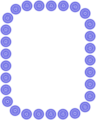 Free Stock Photo: Illustration of a blank frame border of blue shapes