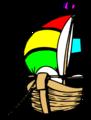 Free Stock Photo: Illustration of an anchored sailboat