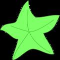 Free Stock Photo: Illustration of a green starfish