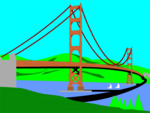 Free Stock Photo: Illustration of the Golden Gate Bridge in San Francisco