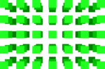 Free Stock Photo: Illustration of a 3d green square pattern
