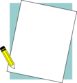 Free Stock Photo: Illustration of a blank paper frame with a pencil