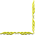 Free Stock Photo: Illustration of a lower right yellow frame corner