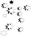 Free Stock Photo: Illustration of black and white stars