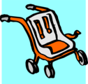 Free Stock Photo: Illustration of a baby stroller