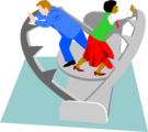 Free Stock Photo: Illustration of a man and woman trapped in a trap