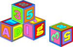 Free Stock Photo: Illustration of colorful toy blocks