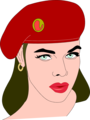Free Stock Photo: Illustration of a beautiful woman wearing a beret