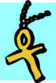 Free Stock Photo: Illustration of an ankh on a necklace