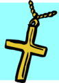 Free Stock Photo: Illustration of a cross on a necklace