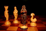 Free Stock Photo: Ornate chess pieces in checkmate