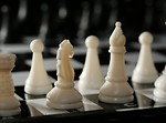 Free Stock Photo: Close-up of white chess pieces
