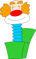 Free Stock Photo: Illustration of a clown jack-in-the-box