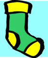 Free Stock Photo: Illustration of a green and yellow sock