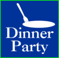 Free Stock Photo: Illustration of a fork and dinner party text