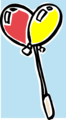 Free Stock Photo: Illustration of red and yellow balloons