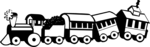 Free Stock Photo: Illustration of a toy train