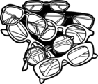 Free Stock Photo: Illustration of a pile of glasses