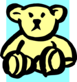Free Stock Photo: Illustration of a yellow teddy bear
