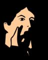 Free Stock Photo: Illustration of a man shouting