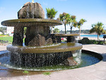 Free Stock Photo: A large fountain by the beach