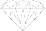 Free Stock Photo: Illustration of a diamond