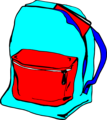 Free Stock Photo: Illustration of a blue book bag