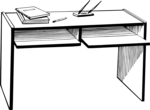 Free Stock Photo: Illustration of a desk
