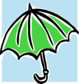 Free Stock Photo: Illustration of a green umbrella