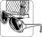 Free Stock Photo: Illustration of a pair of sunglasses