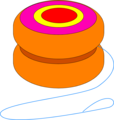 Free Stock Photo: Illustration of an orange yo-yo
