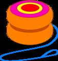 Free Stock Photo: Illustration of an orange yo-yo
