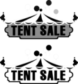 Free Stock Photo: Illustration of tents and tent sale texts