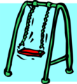 Free Stock Photo: Illustration of a swing set