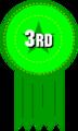 Free Stock Photo: Illustration of 3rd place ribbon