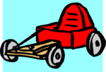 Free Stock Photo: Illustration of a red go-kart
