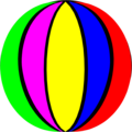 Free Stock Photo: Illustration of a beach ball