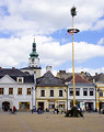 Free Stock Photo: Bruntal town square with a maypole