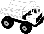 Free Stock Photo: Illustration of a toy dump truck