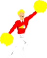 Free Stock Photo: Illustration of a male cheerleader