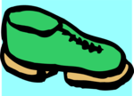 Free Stock Photo: Illustration of a green shoe